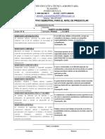 Informe de prescolar