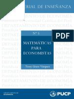 matemática para economía