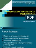 Konsep Dasar Perencanaan Pembangunan