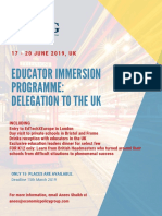 Education Delegation to the UK