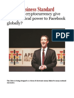 Will Libra Cryptocurrency Give More Political Power to Facebook Globally