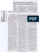 Malaya, June 20, 2019, Lacson accuse health chief of conflict of interest Duque denies.pdf