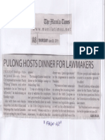 Manila Times, June 20, 2019,Pulong hosts dinner for Lawmakers.pdf