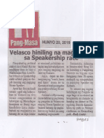 Pang-Masa. June 20, 2019, Velasco hiniling na magparaya sa Speakership race.pdf