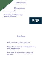 Ocean Basin Lecture