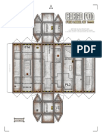 Free Cargo Pod Paper Model
