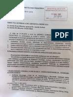 Atenționarea trimisă de Comisia de Oncohematologie a Ministerului Sănătății către Direcția de Asistență Medicală, în privința crizei de citostatice!
