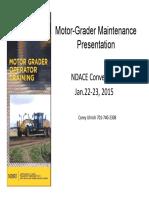 Motor Grater Maintenance