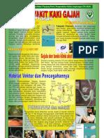 Poster Penyakit Kaki Gajah FILARIASIS, Bidang PRL Tahun 2010