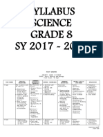 Syllabus- Grade 8 Science
