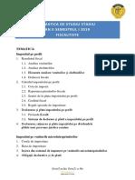 Fisc an II s1 Tematica 2019