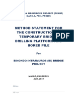 New Method Statement for All Temporary Bridge and Platform & Bored Pile - DRONE-Apr.9,2019