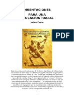 Orientaciones para una educación racial - Julius Evola
