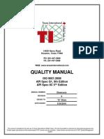 Quality Manual Texas Oilfield