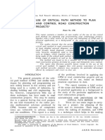 USE OF CRITICAL PATH METHOD TO PLAN AND CONTROL ROAD CONSTRUCTION PROJECTS