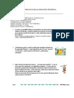 Ejercicios Diferentes notacion cientifica  ESO