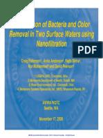 Nanofiltration - Fyne for Colour & Bacteria