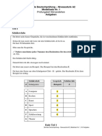 A2 Modellsatz Nr. 1, HV Aufgaben