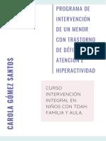 Programa de Intervención TDAH