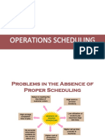 19. Operations Scheduling and Maintenance