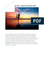 International Yoga Day PDF