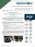 Réparation Manuelle de La Transmission DSG Dans La Station-service Transcom-At