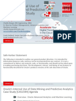 OOW'16 - Oracle's Internal Use of Data Mining and Predictive Analytics Case Study [CAS1594] V3