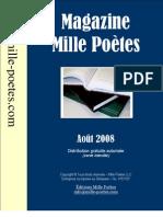 Magazine Mille Poètes - Août 2008