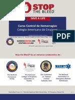 Stop the Bleed Presentation Ppt Spanish E.cisternas