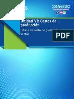 Tema 5 - Estado de Costo de Producción y Ventas