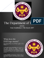 Department of Finance and Department of Agriculture