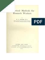 Metodos Estadisticos Para Trabajadores de Investigacion- Libro Ronald a Fisher