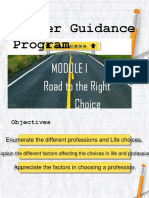 module 1 CGP 11 Road to the right Choice