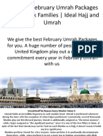 Cheapest February Umrah Packages 2019 For Uk Families | Ideal Hajj and Umrah