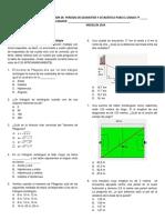 Evaluacion Pitagoras y Probabilidad