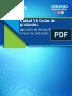 Aplicación de Sistema de Costos Por Órdenes de Producción