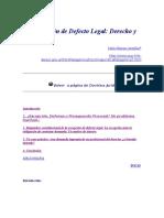 La Excepción de Defecto Legal