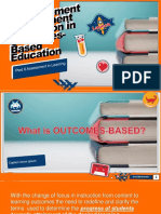 Measurement Assessment Evaluation in Outcomes-Based Education