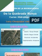 Delimitación de La Cuenca Ñunya