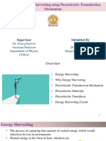 Energy harvesting using piezoelectric material