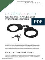 Atuação polícia Civil