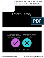 August Losch Theory on Modification of Central Place Theory