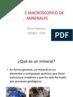 1. Minerales -Análisis Macroscópico