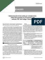 Calculo de Multa Por Datos Falsos Igv 2014