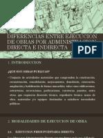 Diferencias Entre Ejecucion de Obras Por Administracion Directa