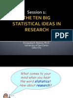 Ten Big Statistical Ideas in Research