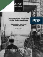 La couverture radio-canadienne de l'inauguration de la voie maritime
