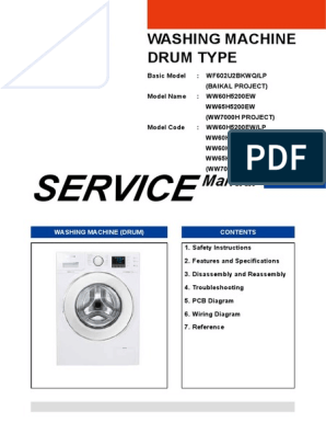 Ww65h5200ew Se Sm Electrical Connector Washing Machine