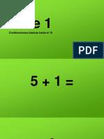 Cálculo Mental Sumas Fase 1