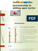 Agriprenuership in Rebuilding Agro Sector